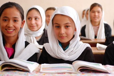 Afghan girls in school